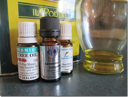 TeaTree, Lavender,OliveOil and other essential oils and herbs help to detox a chemical=laden body.
